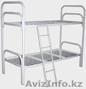 Кровати металлические для бытовок, кровати трёхъярусные для рабочих, кровати опт - Изображение #2, Объявление #1433330