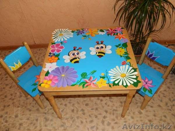Как раскрасить детский столик своими руками 99