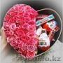 Коробка сюрприз с живыми цветами и подарками. Доставка, Объявление #1492455