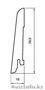 Плинтус шпонированный с тонировкой в Астане, Объявление #1515641